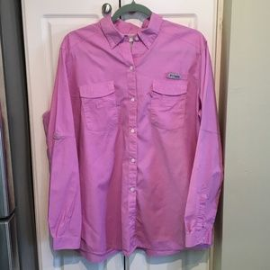 Columbia Pink PFG Vented Back Top Size XL